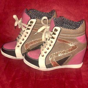 """Multicolor glitter """"Heel-sneakers"""" Heel"""